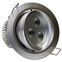 LED Einbaustrahler schwenkbar mit ca: 90mm Einbau-Ø und 75mm Einbau-Tiefe (+ Abluft)