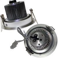 LED Downlight Alu für 12V DC mit nur ca. 9W Verbrauch