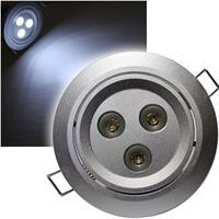 LED Einbaustrahler | 3x3W | CREE LEDs | pur-weiß | 12V DC