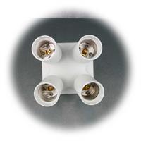 Vierfach-Adapter: aus einer E27-Fassung werden 4 E27-Fassungen