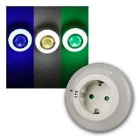LED night light with twilight sensor | 3 light colours| 230V