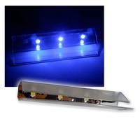 6er SET LED Glasbodenbeleuchtung 66mm blau