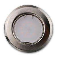 Runde, starre Einbauleuchte in Edelstahl-Optik