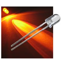 "20 LED 5mm crystal clear, amber ""WTN-5-6000o"""