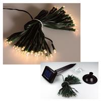 Solar LED Außen-Lichterkette mit 50 LEDs warm-weiß