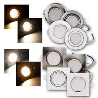 Set of  flush-mounted lights | 230V | 3/5W | diverse types