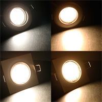 Komplettset Einbaustrahler mit 2 Leuchtfarben in 3W und 5W