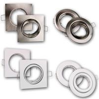 LED- Einbauleuchten mit 8 verschiedenen Rahmen-Ausführungen