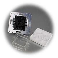 Mattweißer UP Wechsel-Schalter MILOS ohne Rahmen