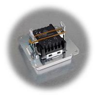 Wechsel-Schalter MILOS ohne Rahmen mit mattweißer Wippe