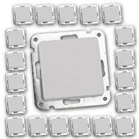 20 Stück MILOS Wechsel-Schalter weiß matt | UP ohne Rahmen