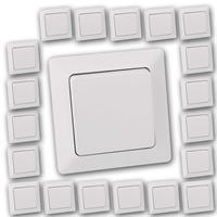 20er Pack MILOS Wechsel-Schalter weiß matt | UP mit Rahmen