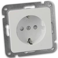 MILOS socket | white matt | 250V/10A | flush, without frame