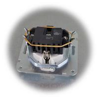 MILOS Schutzkontakt-Steckdose ohne Rahmen mit Klemmanschlüssen