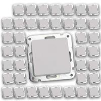 40 Stück MILOS Wechsel-Schalter weiß matt | UP ohne Rahmen