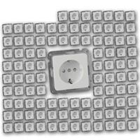 100x MILOS Schutzkontakt-Steckdosen weiß | UP ohne Rahmen