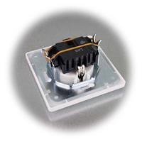 Unterputz-Steckdose mit Rahmen aus der MILOS-Serie