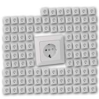 100 MILOS Schutzkontakt-Steckdosen weiß matt | UP mit Rahmen