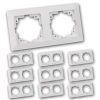 MILOS Zweifach-Rahmen 10er Pack | weiß matt | Doppelrahmen
