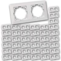 MILOS Zweifach-Rahmen 40 Stück | weiß matt | Doppelrahmen