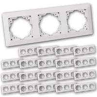 MILOS Dreifach-Rahmen 20er Pack weiß matt | Unterputzrahmen