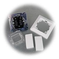 MILOS Serien-Schalter mit Rahmen und zwei Wippen