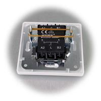 Zweifach Serien-Schalter mit Rahmen aus der MILOS-Serie