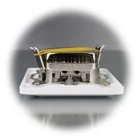 Antennendose MILOS mit Anschlüssen für TV, SAT und Radio inkl. Rahmen