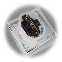Wasserdichte MILOS Steckdose mit Klappdeckel für Feuchträume
