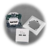 MILOS USB-Dose mit 2 USB-Buchsen, 5V=/2A