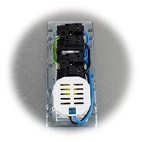 Steckdosenblock zur Aufbaumontage mit USB-Buchsen