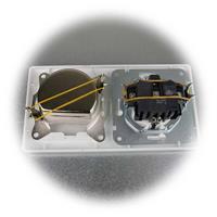 MILOS UP-Steckdose und Antennendose mit mattweißem Rahmen