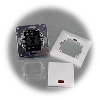 Kontroll-Schalter mit Rahmen aus der MILOS-Serie