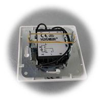 MILOS Kontroll-Schalter mit roter Kontroll-LED Rahmen