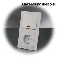 Der Kontroll-Schalter kann mit MILOS-Elementen kombiniert werden