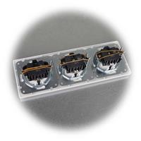 UP-Steckdosen-Kombination mit Rahmen aus der MILOS-Serie