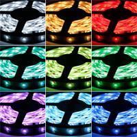 Komplettset mit flexiblem RGB-Streifen, Fernbedienung, Controller und Netzteil