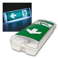 4 verschiedene Typen LED Notleuchten für innen oder außen