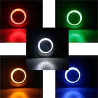 1-poliger Vollmetall-Taster mit Ringbeleuchtung in 5 Farben