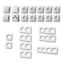 FLAIR Set comfort | 23 pieces, white, sockets & TV box