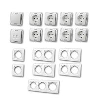 FLAIR Set office | 17 pieces, white, switch & network socket