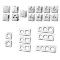 FLAIR Set entertain | 21 pieces, white, socket for ISDN/CAT