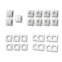 FLAIR Set standard plus | 21 pieces, white, toggle switch