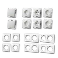 FLAIR Set Starter | 16 pieces, white | switch and socket
