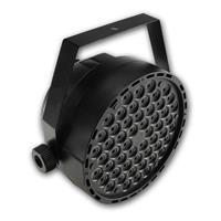Musiksteuerung über eingebautes Mikrofon, LED, DMX 54x 1W