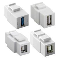 Keystone Module USB | USB 2.0/3.0 vorn und hinten | Typ A/B
