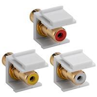 Keystone Modul Cinch/RCA Buchse, 3 Farben
