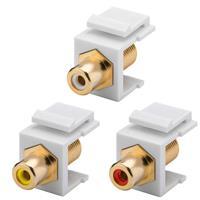 Keystone Modul Cinch/RCA | Cinch-/F-Buchse, 16,2mm, 3 Farben