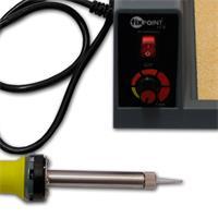 Lötgerät mit thermogeschüzter Auflage und Schwamm