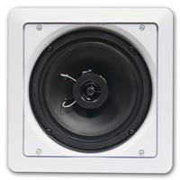 Weißer 2-Wege-Lautsprecher zum Wand- oder Deckeneinbau